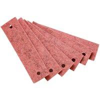 Leander Griffe für Kommode (6 Stück) aus Filz, pink