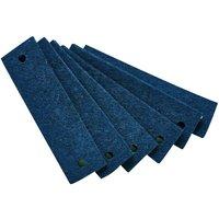 Leander Griffe für Kommode (6 Stück) aus Filz, blau
