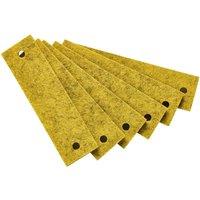 Leander Griffe für Kommode (6 Stück) aus Filz, gelb