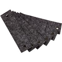 Leander Griffe für Kommode (6 Stück) aus Filz, grau