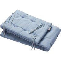 Leander Nestchen für Linea und Luna Babybett (180x30cm) aus Bio-Baumwolle, Dusty Blue
