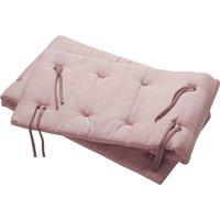Leander Nestchen für Linea und Luna Babybett (180x30cm) aus Bio-Baumwolle, Dusty Rose