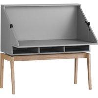 Leander Luna Schreibtisch & Bücherregal, multifunktional, grau / Eiche