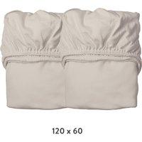 Leander Spannbettlaken aus Bio-Baumwolle (60x120 cm) 2er-Pack Cappuccino