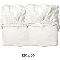 Leander Spannbettlaken aus Bio-Baumwolle (60x120 cm) 2er-Pack Snow