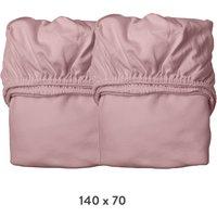 Leander Spannbettlaken aus Bio-Baumwolle (70x140 cm) 2er-Pack Dusty Rose