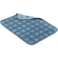 """Leander Liegeunterlage """"Topper"""" aus Bio-Baumwolle (45x65 cm) Dusty Blue"""