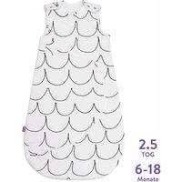"""Snüz Kleinkind-Schlafsack """"Welle"""" aus Baumwolle 2.5 Tog (6 - 18 Monate) in weiß"""