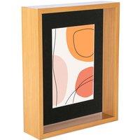 3D Light Wood Deep Box Photo Frame - 8 x 10