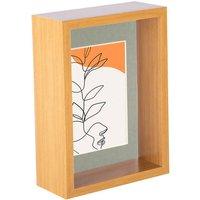 3D Light Wood Deep Box Photo Frame - 5 x 7