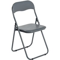 Harbour Housewares Padded Folding Chair - Grey