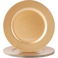 Argon Tableware Metallic Charger Plates - Gold - Pack of 6