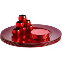 18 Piece Metallic Charger Plates Set - By Argon Tableware