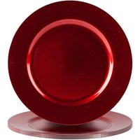 Metallic Charger Plates - Pack of 6 - By Argon Tableware