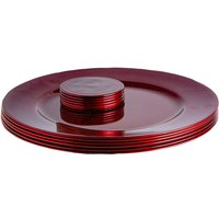 12 Piece Metallic Charger Plates Set - By Argon Tableware