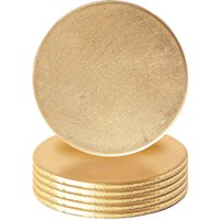 Argon Tableware Metallic Coasters - Gold - Pack of 6