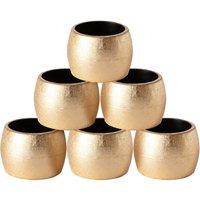 Argon Tableware Metallic Napkin Rings - Gold - Pack of 6