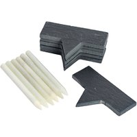 'Argon Tableware 6 Slate Cheese Board Markers With Chalk