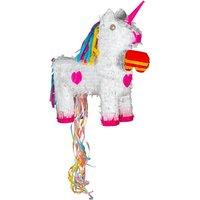 Fax Potato 2 Piece Unicorn Pull String Pinata and Blindfold Set
