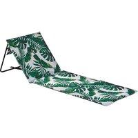 Harbour Housewares Folding Beach Lounger - Banana Leaf