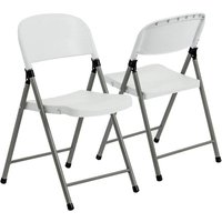 Harbour Housewares Heavy Duty Plastic Folding Camping Chair x2
