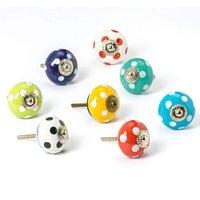 Nicola Spring Round Ceramic Cabinet Knobs - Spot - 9 Colours