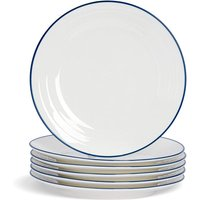 Farmhouse White Dinner Plates - 26cm - Pack of 6 - By Nicola Spring