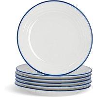 Nicola Spring Farmhouse White Dessert Plates - 21cm - Pack of 6