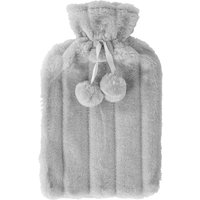 'Nicola Spring Faux Fur Hot Water Bottle Cover - Grey