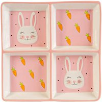 Pink Bunny Snack Plate - 20cm - Pink - By Nicola Spring