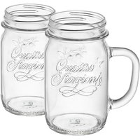 Bormioli Rocco Quattro Stagioni Mason Jars - 415ml - Pack of 6