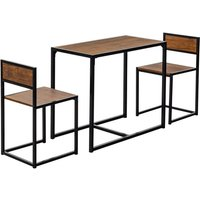 Harbour Housewares Compact Kitchen Table and Chairs Dining Set