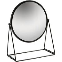Harbour Housewares Round Dressing Table Mirror - 33cm - Black