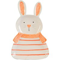 Easter Bunny Plate - 17cm - White - By Nicola Spring