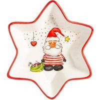 Nicola Spring Christmas Star Serving Platter - 18cm - Santa