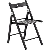 Harbour Housewares Wooden Folding Chair - Black