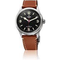 tudor gents heritage ranger leather strap 41mm automatic watch