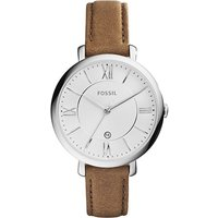 fossil ladies jaqueline brown leather watch