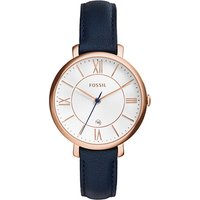 fossil ladies jacqueline nevy leather watch
