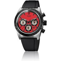 tudor gents fastrider chrono red dial watch