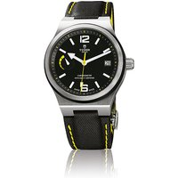 tudor gents north flag black leather 40mm automatic watch