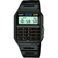 casio unisex calculator resin black strap watch