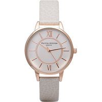 olivia burton wonderland mink and rose gold watch