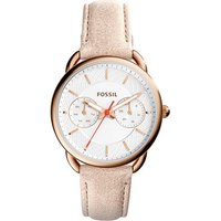 fossil ladies tailor multifunction light brown leather watch