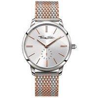 thomas sabo ladies glam spirt rose gold dial strip watch