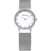 bering ladies stainless steel mesh bracelet 26mm dot dial watch