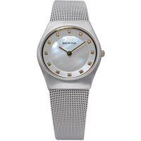 bering ladies stainless steel mother of pearl dial watch
