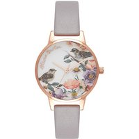 olivia burton english garden lilac and rose gold watch