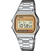 casio classic retro gold and silver watch