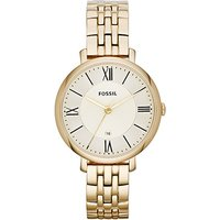 fossil ladies jacqueline gold tone watch